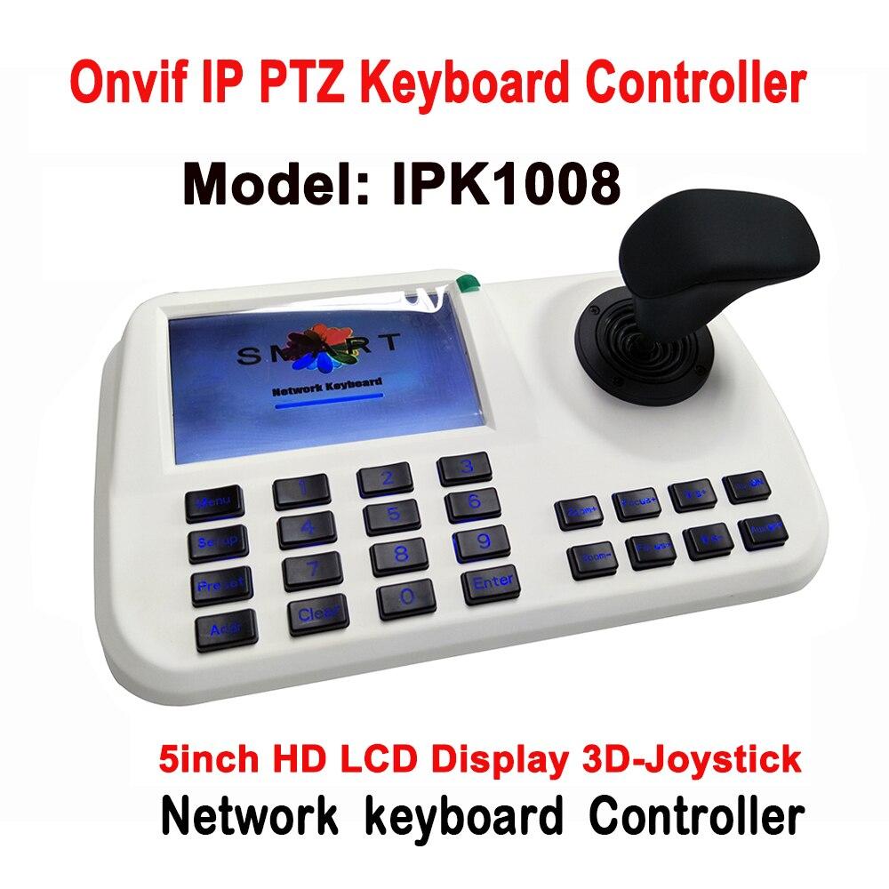 5''LCD ONVIF IP PTZ clavier contrôle IP PTZ caméra 3D Joystick HD réseau PTZ clavier contrôleur pour CCTV vitesse dôme PTZ caméra