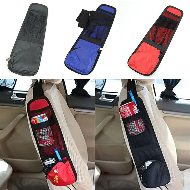 3 Color Car Seat Side Multi Pocket Pouch Organizer Travel Storage Bag Bottle Holder Stowing Tidying