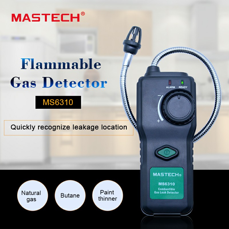 MASTECH MS6310 Combustible Gas Leak Detector meter Test for natural butane paint thinner Flammable Gas Analyzer зеркало с фацетом в багетной раме поворотное evoform exclusive 51x81 см палисандр 62 мм by 1134