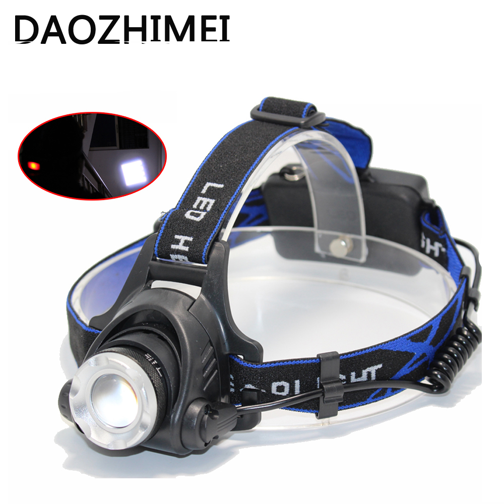 5000lumen LED Headlight XM-L T6 L2 led rechargeable Headlamps camping Zoom Torch Use 18650 Battery Car Charger Fishing Light