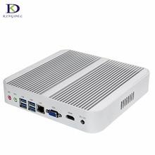 Kingdel большая акция для Новогодние Intel Core i5 6200U 4200U Безвентиляторный Mini PC Настольный компьютер 4 К стример HTPC HDMI VGA