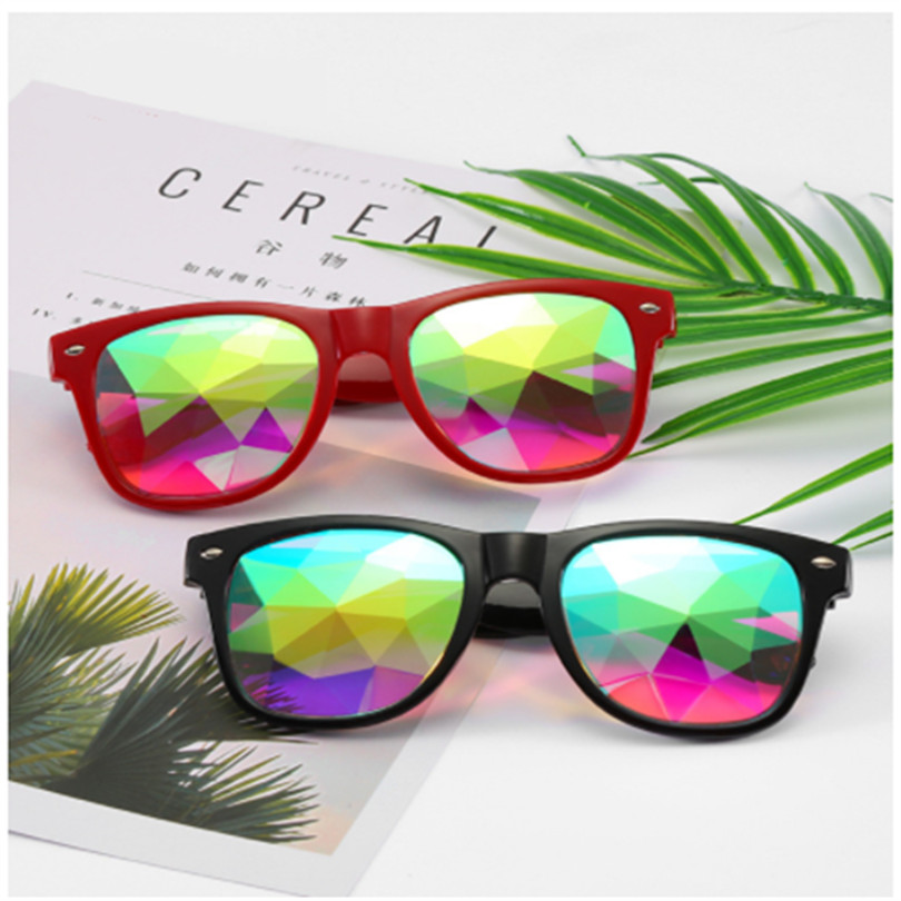 Kaleidoscope Glasses Women Men Retro Diffracted Lens Holographic Glasses Rave Festival Party EDM Sunglasses Male Female
