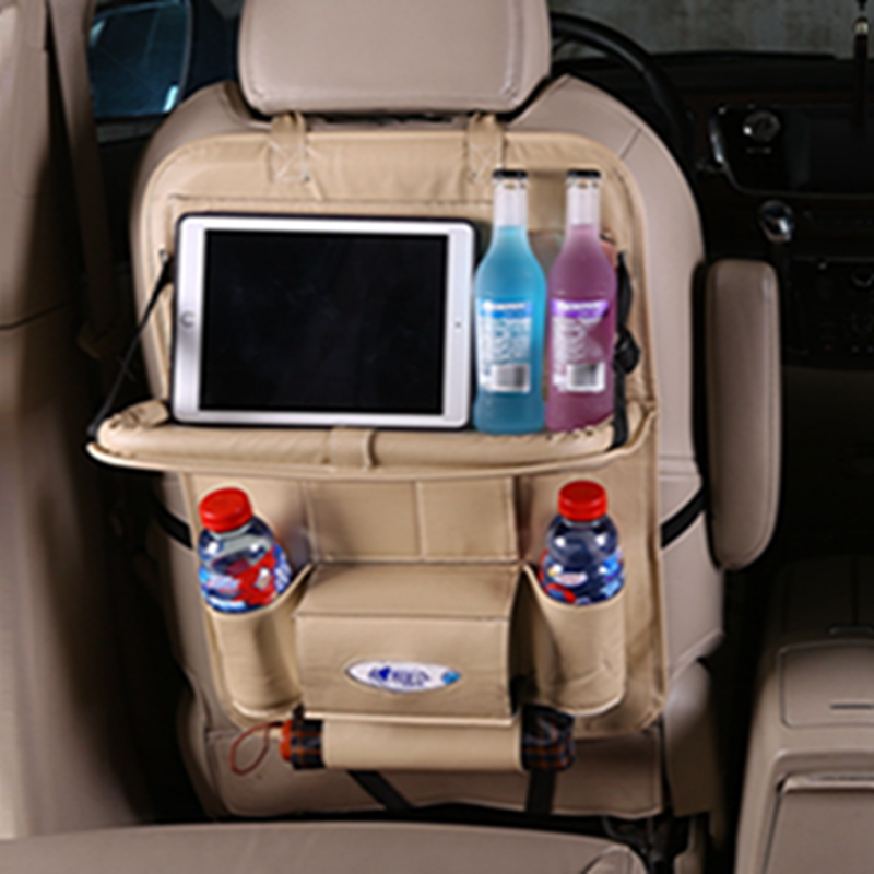 Car seat leather storage bag car interior goods vehicle pocket bag multifunctional debris finishing storage bag