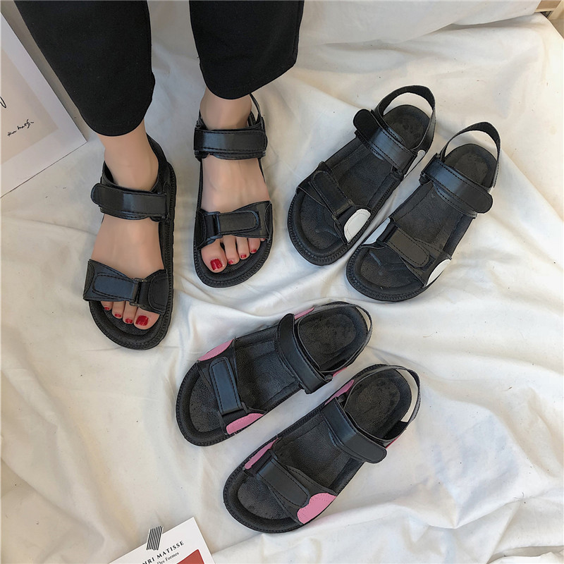 Summer thick-bottomed Roman shoes fairy wind beach holiday outside wearing beach shoes students flat non-slip wild sandalsSummer thick-bottomed Roman shoes fairy wind beach holiday outside wearing beach shoes students flat non-slip wild sandals