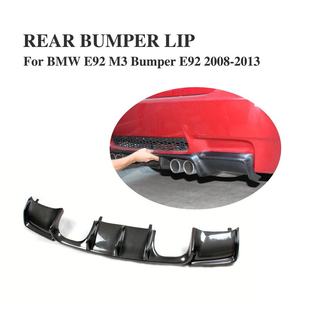Factory Outlet E92 Carbon Fiber Rear Diffuser Spoiler for Bmw E92 M3 Bumper Couper & Convertible 2007 2013 Rear Bumper Bumpers     - title=