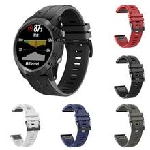 26mm Silicone Watch Band For Garmin Fenix 5X Sports Smart Tabby Belt With Black Buckle