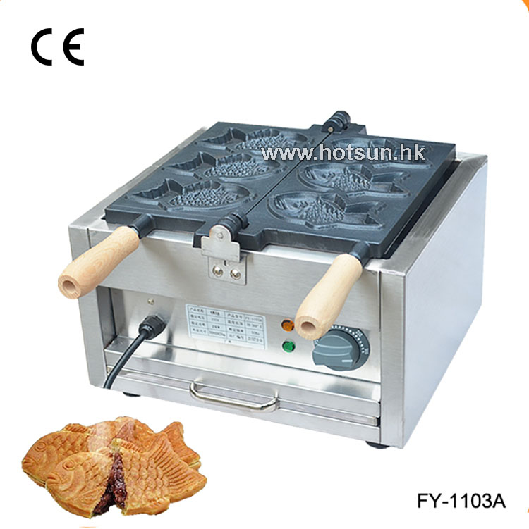 Free Shipping Commercial 110V 220V Electric 3pcs Taiyaki Maker Fish Waffle Iron Machine Baker free shipping commercial electric taiyaki korean poop bread waffle maker iron machine