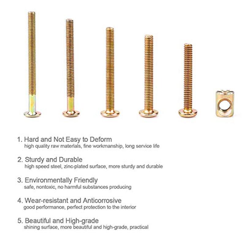 110pcs Bolts Nuts Kit M6 Hex Socket Head Cap Screws Nuts Crib Bunk Bed Furniture Cot Barrel Bolt Nuts Hardware Replacement Kit Screws Aliexpress