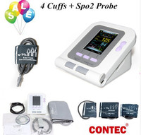 2018 CE Digital Blood Pressure Monitor 08A+Infant Pediatrics/Child/Adult Cuffs+ Adult SP02 contec