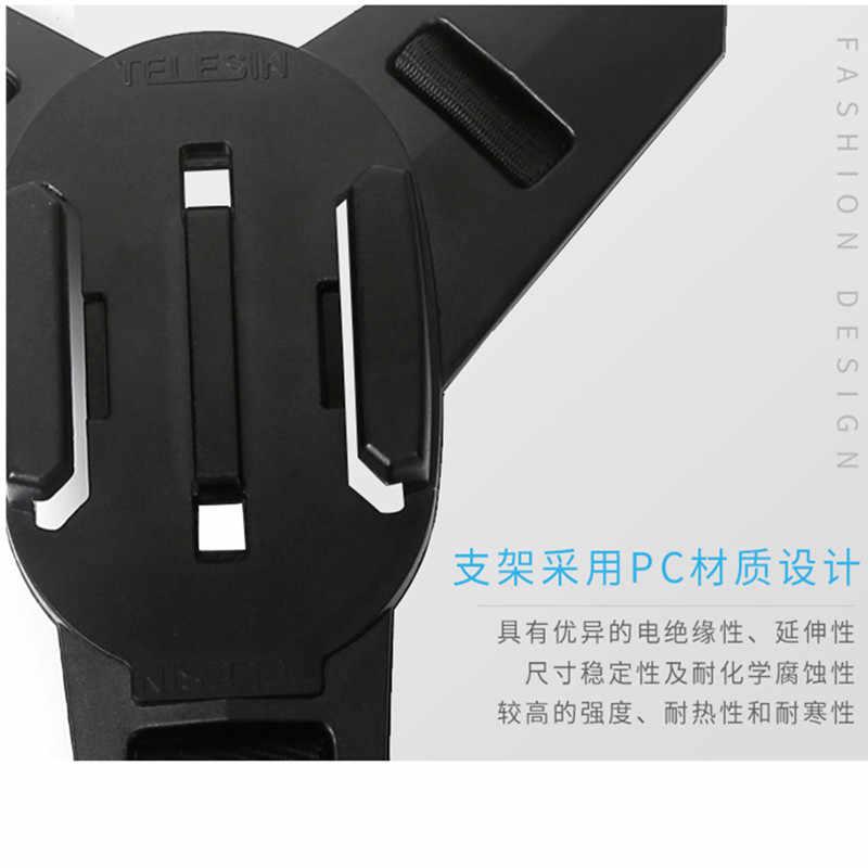 Akcesoria TELESIN motocykl pasek montowany na kask przedni podbródek uchwyt na gopro Hero7 6/5/4/3, sesja, SJCAM, YI kamera akcji