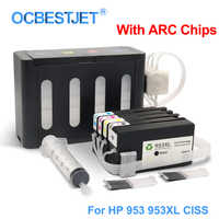 For HP 953XL 953 XL CISS Continuous Ink Supply System For HP Officejet Pro 7740 8210 8710 8715 8740 8720 8725 8730 With ARC Chip