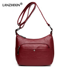 Lanzhixin Brand Crossbody Bag High Quality Women Leather Handbags Women Messenger Bag Shoulder Bags Sac Women Handbags 1070S