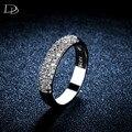 Rodada branco banhado a ouro anel para as mulheres AAA CZ diamante excelentes anéis de cristal do acoplamento do casamento jóias aneis bague DD037
