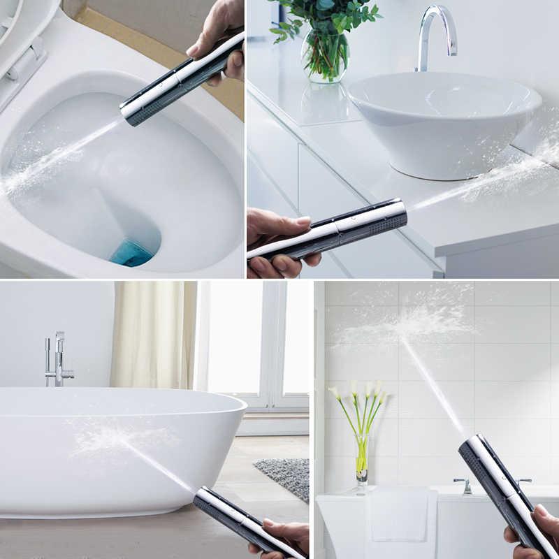 Hm z przełącznikiem rączka prysznica głowica mosiężna ciśnienie deszcz i puls pistolet Super Supercharged łazienka zdejmowana zmywalna głowica prysznicowa