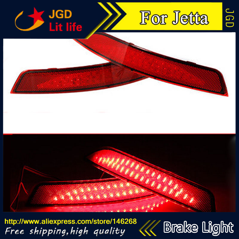 Free shipping Tail light parking warning rear bumper reflector for VW Volkswagen Jetta 2012 2013 2014 Car styling for skoda fabia rear reflector rear bumper warning fake light for vw oem original part good quality hot sale fast shipping