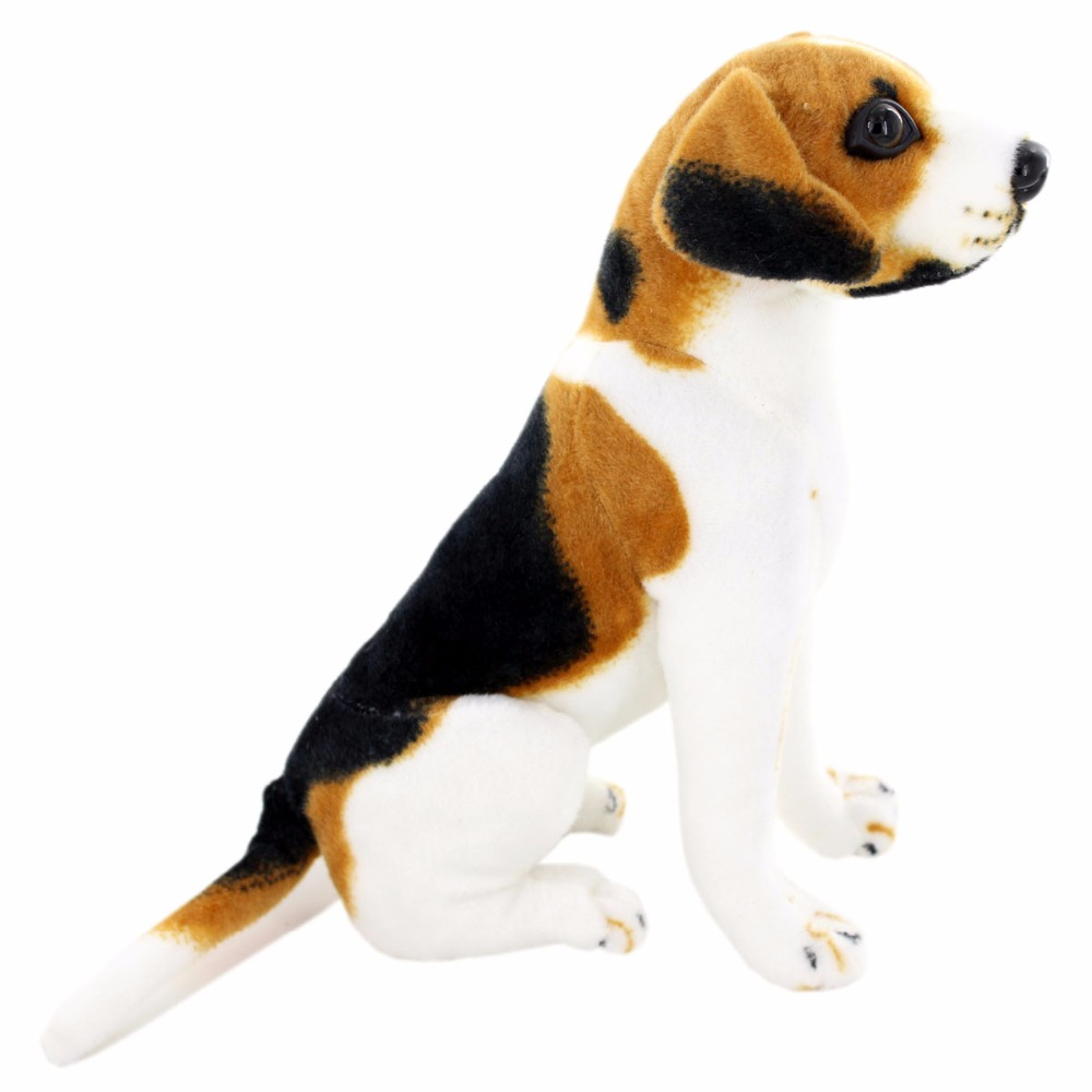 JESONN Ρεαλιστικά γεμιστά ζώα καθιστώντας τα σκυλιά Beagle Plush Dogs για δώρα γενεθλίων παιδιών
