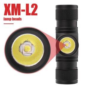 Image 2 - Boruit D10 XM L2 ledヘッドランプ強力な3000LM防水ヘッドライトusb充電式18650ヘッドトーチ用