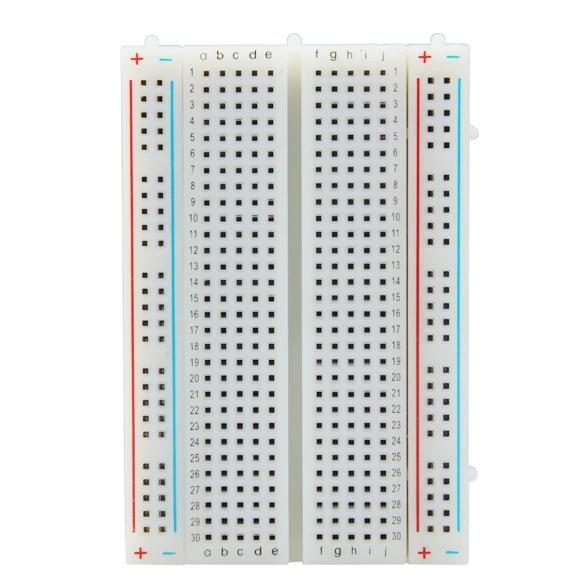 KNOSSOS Mini Solderless Breadboard 400 Contatti Tie-Points Universal Disponibile New Beige