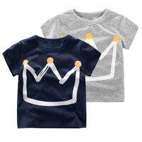 2017 Summer Boys T Shirts Fashion Kids Short Sleeve Tops Tee Print Cotton T-shirts For Baby Boys 1-10Years Children Clothing