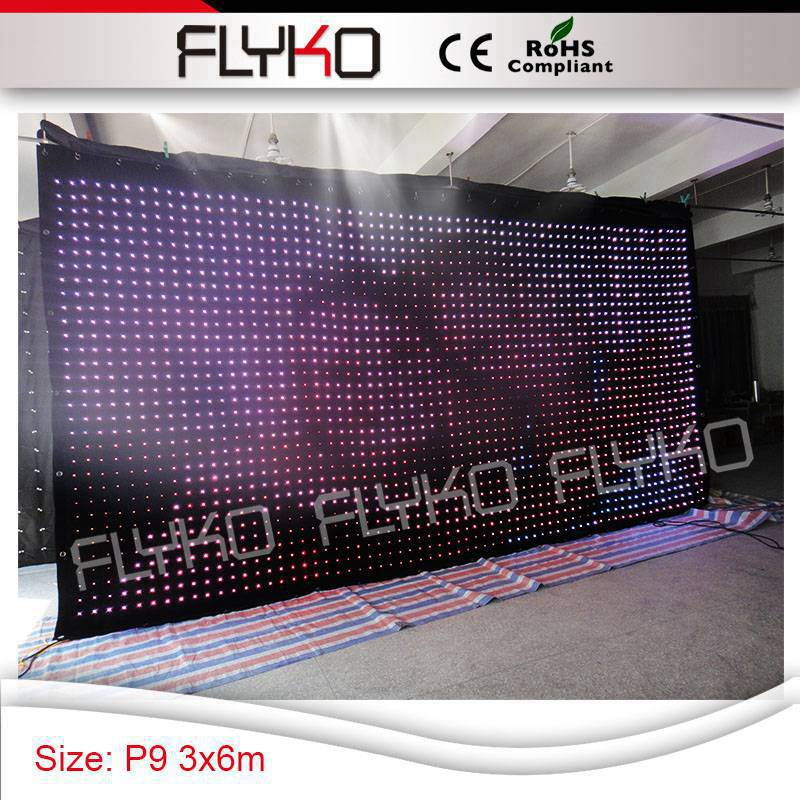 US $2319 0 |Aliexpress com : Buy P9CM 3x6m music stage show background  rental led vision curtain from Reliable led vision curtain suppliers on