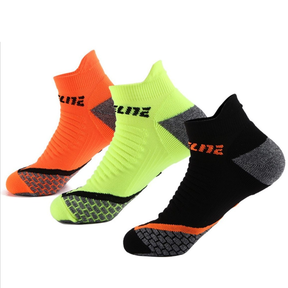 1 Pair Mens Professional Low Cut Sport Sock Slipper EU 40-44 Wick Sweat For Jogging Running Gym Fitness Riding Climbing Meias