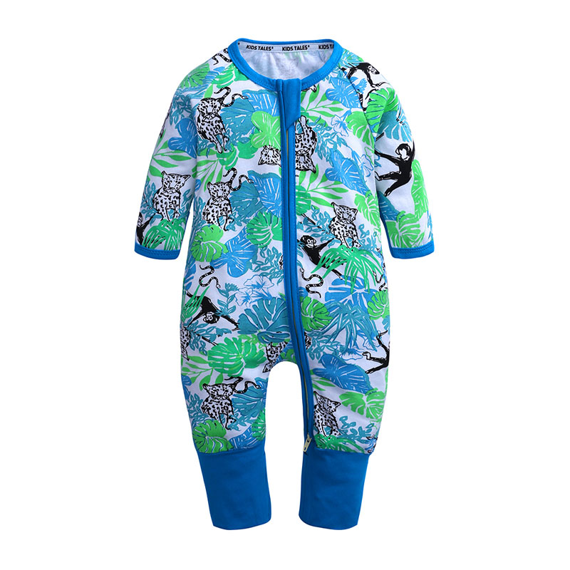 Spring Autumn Baby Boy Girl Clothing Cotton Newborn Boys Girls   Romper   Cute Print Baby Jumpsuits Long Sleeve Kids Clothes