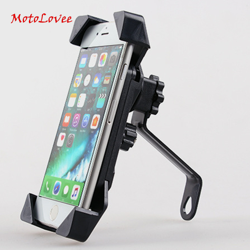 MotoLovee Universal Motorcycle Phone Holder 360 Degree Rotating Bicycle Bracket Motorcycle Holder For IPhone Samsung GPS