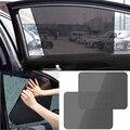 Cuidado de autos 2 unids Negro Side Car Sun Shades Cubierta Visor Protección de Pantalla Estática Bloque Sombrillas Ventana Trasera Interior accesorios