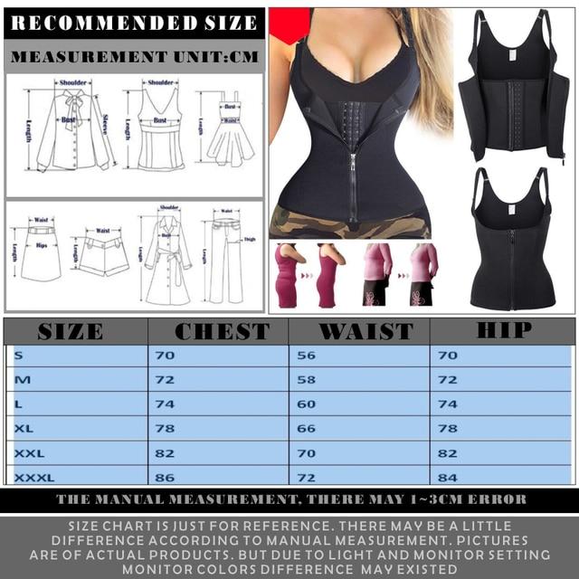 FDBRO Women Abdominal Support Belt Waist Trimmer Press Belt Sports Corset Girdle Zipper Vest Slim Weight Trainer Body Shaper 5