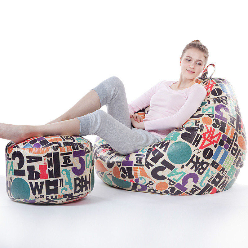 Furniture Home Furniture Tatami Bean Bag Relax Lazy Chair Sofa Bed Sofa Size 90*110cm With Footstool