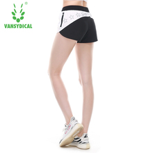 2017 Brand Vansydical Summer Sports shorts Female quick Dry Running Loose Fitness Breathable Yoga shorts