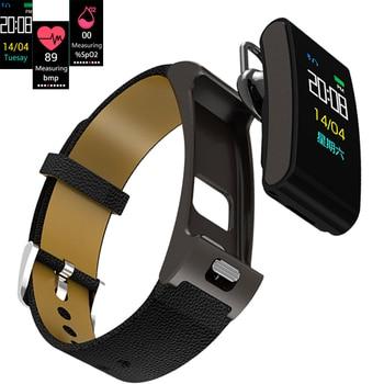 A9S Smart Watch Men Women Heart Rate Blood Pressure Sports Blak Steel Leather Strap Bluetooth Headset Call Fitness Smart Watches