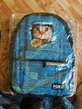 Cool Wolf Dog Printed Canvas Backpacks Teenage Girls School Bags Women Fashion Bao Travel Backpack 3D Animal School  bag