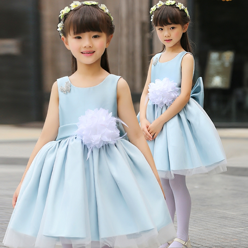 Hot sales 2017 Summer Girls Wedding&Birthday Party One-Piece Dresses Princess Children Clothes For Kids Baby Clothing Girl Dress