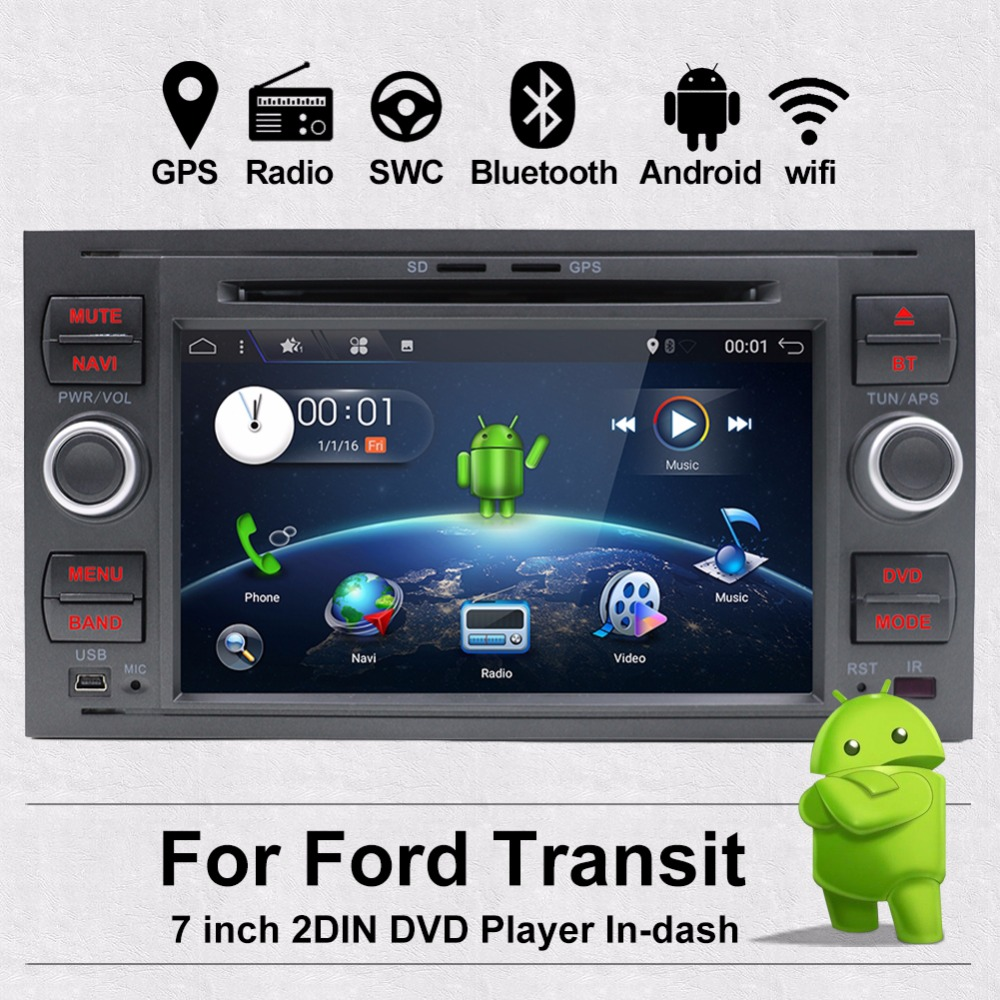 Bosion 7 Voiture Multimédia Radio Pour Ford Focus Transit Connect Mondeo S-max GPS Sat Navi 2 gb RAM Wifi CFC AUX Bluetooth 2 DIN