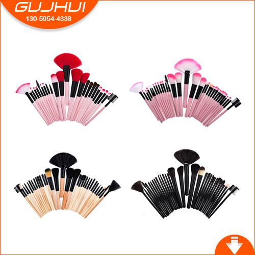 24 /32 Makeup Brush Sets, Make-up Tools, Beauty Equipment, Foundation Brush, GUJHUI, OPP Installed 12 unicorn makeup brush sets beauty tools make up powder brush sets brush gujhui