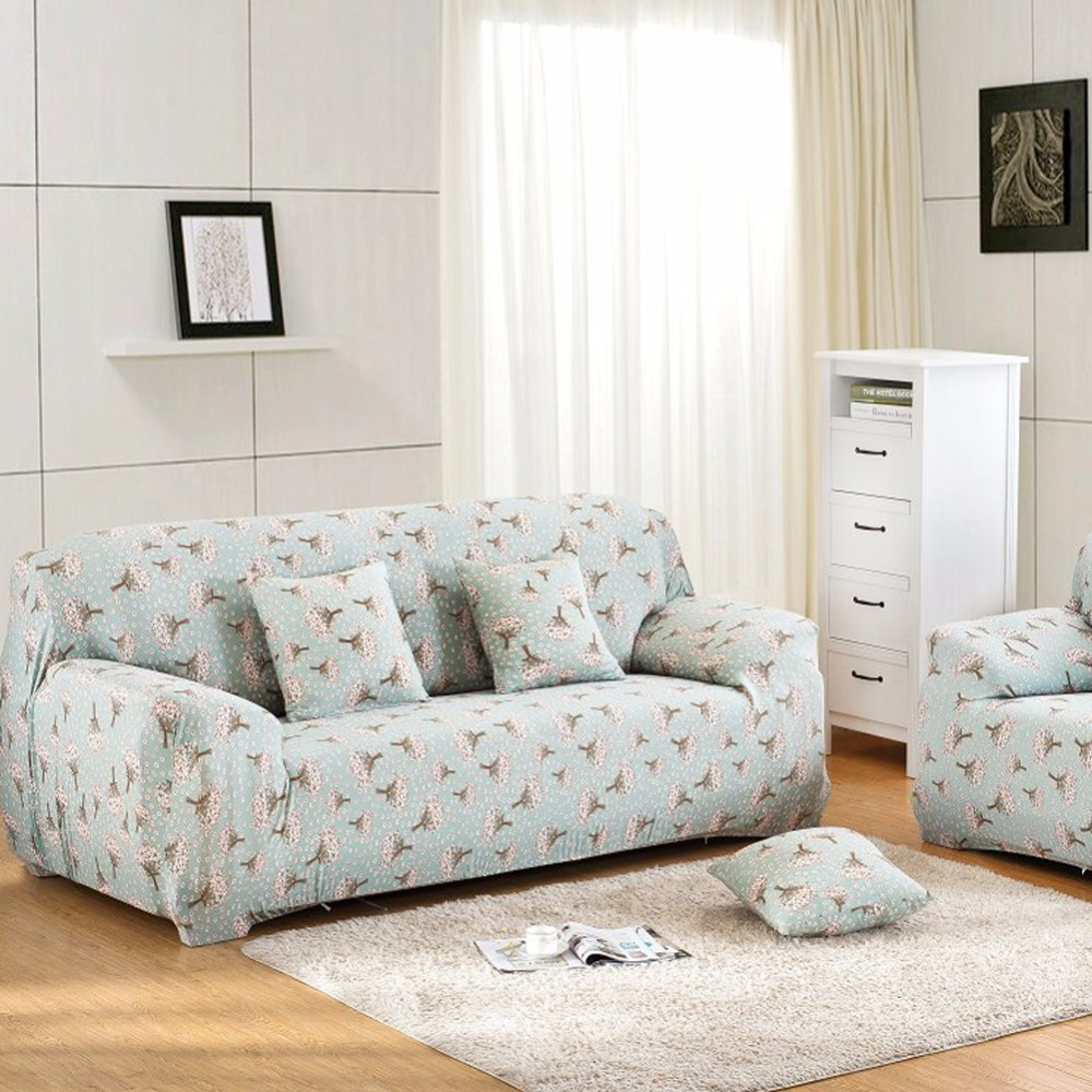 fashion printed sofa cover slipcover stretchable pure color polyester fiber sofa cushion. Black Bedroom Furniture Sets. Home Design Ideas