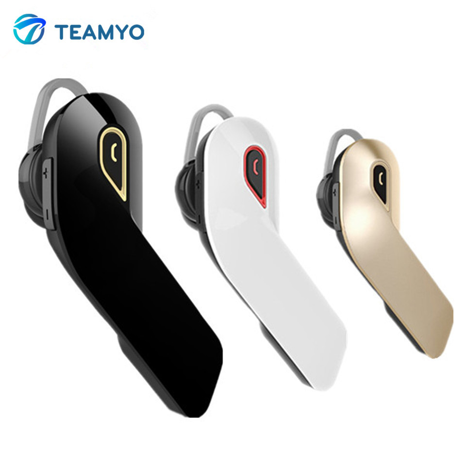 Teamyo Portable Bluetooth Headset Stereo Wireless Headphones Earphone with microphone hands-free ear hook headset for all phone wireless headphones bluetooth 4 1 headset stereo earphone with microphone support tf card for iphone pc mobile phone eps33