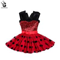 Girls Dresses Miraculous Ladybug Kids Red Flash Dress For Girl Cosplay Costumes Ladybug Marinette Bobo Choses