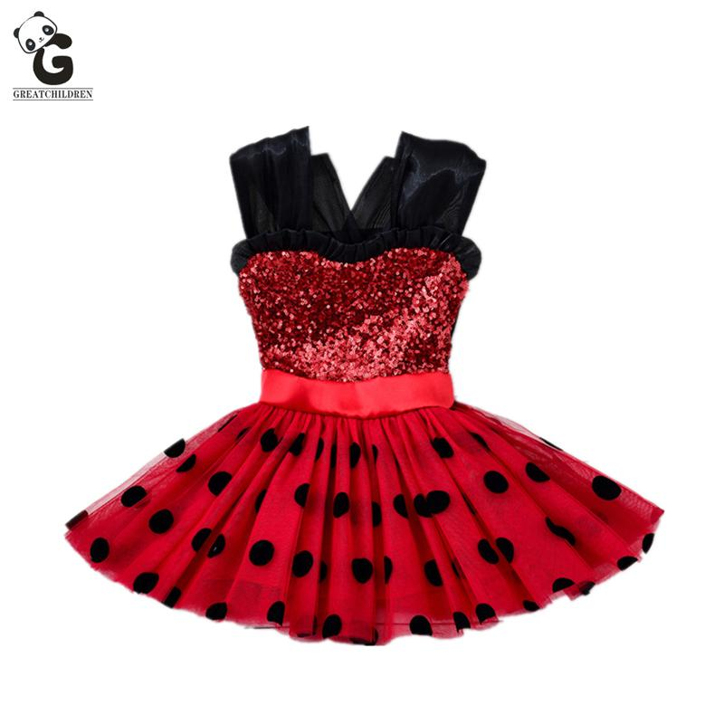 Filles Robes Coccinelle Cosplay Enfants Rouge Flash Robe Pour Fille Cosplay Costumes Coccinelle Marinette Costume Enfants Dot Robe