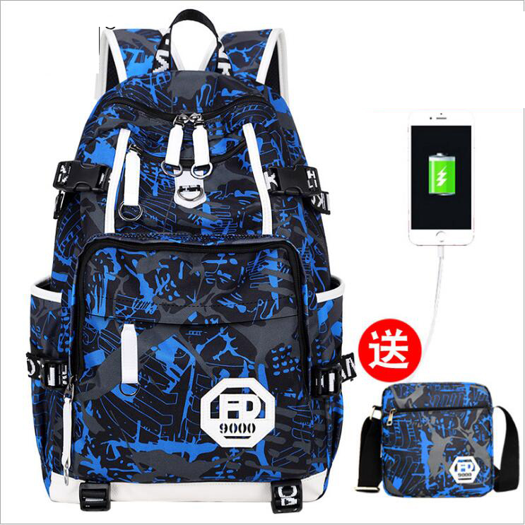 Usb laptop Backpack women Large Capacity schoolbags student Book Bags Boys college Men School Bags for teenagers Girls in Climbing Bags from Sports Entertainment