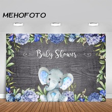 MEHOFOTO Elephant Baby Shower Backdrop It's A Boy Baby Shower Photography Background Baby Shower Party Banner Decoration mehofoto bee baby shower backdrop a sweet little bee sunflower photography background honey bumble bee baby shower party banner