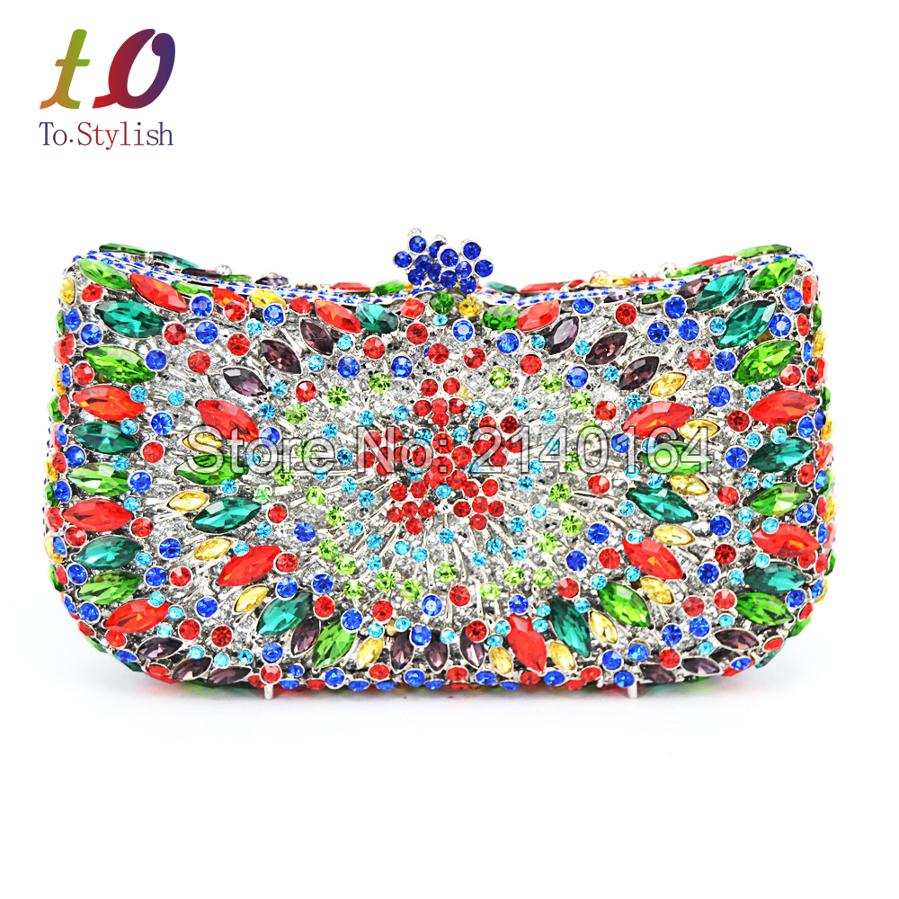 Stylish Crown Pattern Clutches Crystal Evening Bag Luxury Sparkly Dinner Feast Bag indian Ladies Wedding Clutch Handbag 88346 winmax popular luxury evening bag sparkly crystal women party bag colorful butterfly pattern ladies dinner bag prom clutch purse