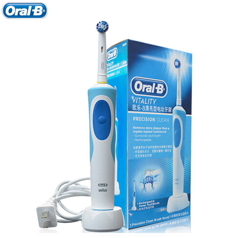 Oral B Rechargeable Electric Toothbrushes Vitality Precision Clean Head D12 Oral Hygiene Dental Rotating Teeth Brush 1Pcs