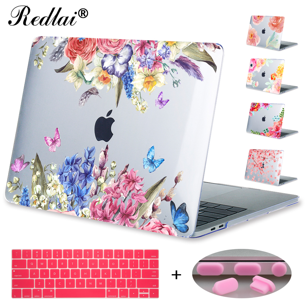 Redlai For New 2016 Macbook Pro 13 15 with touch bar A1706 A1707 & Air 13 inch Pro Retina 13 15 Print Floral Cherry blossom худи print bar марко поло