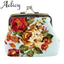 Aelicy Retro Vintage Flower Coin Purse Wallet Solid Color Credit Card case Wallet Package Card Holder Lady Wallet Clutch Bags cheap Canvas WOMEN Floral coin purse cute Square Coin Purses Hasp Fashion mini coin purse wallet mini wallets coin purse woman