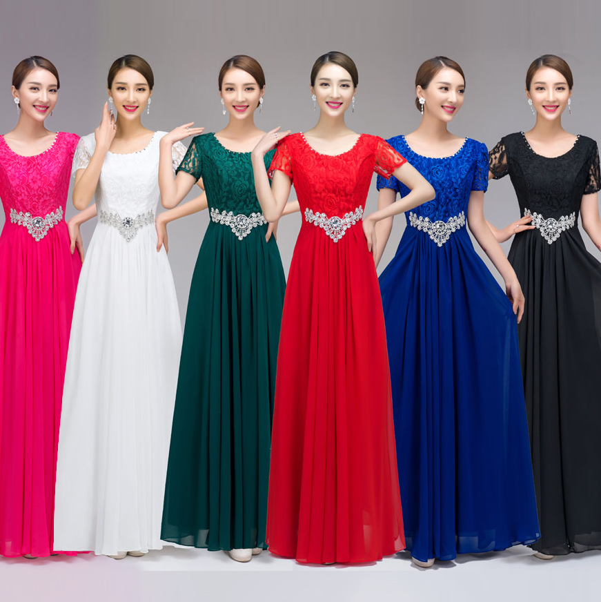 Women group pictures in dresses
