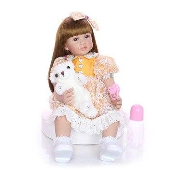 Bebes reborn doll 60cm Silicone reborn baby doll adorable Lifelike toddler Bonecas girl menina de surprice doll gift l.o.l