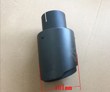 one pc All black Outlet 101mm Universla Car Accessories modification Exhaust Muffle pipe For BMW BENZ AUDI VW