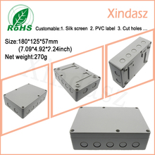 180*125*57mm plastic waterproof electrical enclosure plastic waterproof box electronic controller box